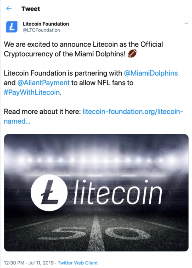 , The NFL and Cryptocurrency